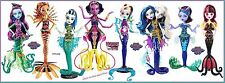 Monster High Great Scarrier Reef Doll Set of 8 Down Under Glowsome Ghoulfish NEW