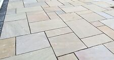 Raj Green Indian Sandstone Paving Natural Stone Patio Flags Garden Slabs (19m2)