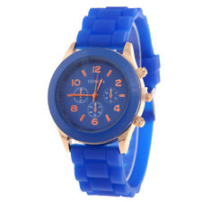 Women Men Candy Color Jelly Silicone Watch Quartz Analog Girl Boy Wristwatch
