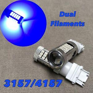 Front Turn Signal Light BLUE samsung 63 LED Bulb T25 3157 3457 4157 FOR Nissan