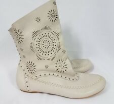 Koolaburra By Ugg Becca Laser Cut Slouchy Ankle Boots Stone Size 8