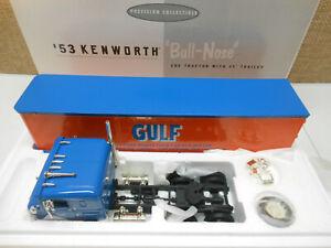 1ST GEAR DIECAST 1953 KENWORTH COE BULL-NOSE GULF OIL SEMI TRACTOR 35' TRAILER