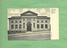 The FREE LIBRARY In PORT JERVIS, NY On Vintage 100-Year Old Unused Postcard