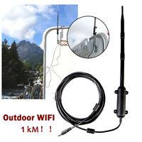 Outdoor High Power Wireless 802.11b/g/n Wifi USB Adapter Network Card Antenna