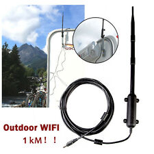 Outdoor High Power Wireless 802.11b/g/n Wifi USB Adapter Network Card Antenna