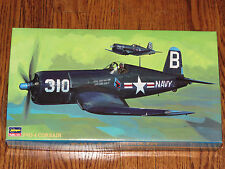 Hasegawa 1/48 Vought Corsair F4U-4 US Navy or Marines Fighter Plane NIB