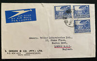 1949 Johannesburg South Africa Airmail Commercial cover To London England
