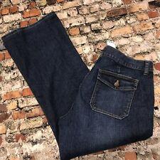 J.CREW Women's Size 14 Blue Denim City Fit Bootcut Stretch Jeans #BB79