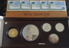 1997 SERIE COMPLETA ORO PLATA CASA DE BORBON. 80000-10000 y 3 de 2000 Pesetas.