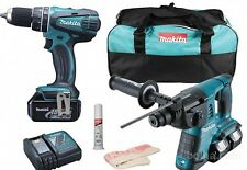 Kit Litio Makita 18v Dlx2137m Avvitatore + Tassellatore + 3 Batterie 4.0ah