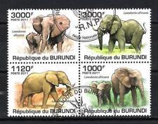 Burundi 2011 Eléphants (119) Yvert n° 1213 à 1216 oblitéré used