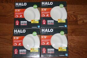 "4X HALO 5 / 6"" LED Baffle Downlight Bulb and Trim 3500K White RL560WH6935R"