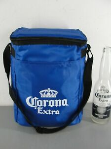 CORONA EXTRA BEER 👑 MINI SOFTSIDE COOLER TRAVEL BAG 6 BOTTLE 12 CAN NEW BLUE