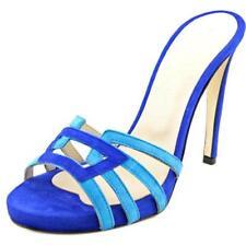 Sandalias y chanclas de mujer de tacón alto (más que 7,5 cm) de color principal azul Talla 39