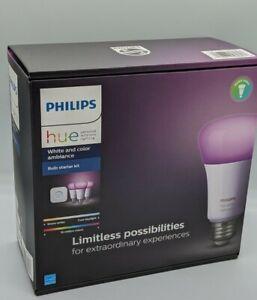 Philips Hue Bulb Starter Kit + Hue Bridge - White and Color Ambiance - 1455234