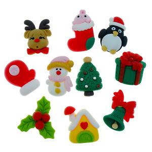 10pcs CHRISTMAS set Resin Flatback Cabochon Embellishments Decoden Craft Card