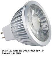 10 FARETTI FARETTO LED D.50 mm MR16 5.3 LUCE FREDDA 6000K 12V 60° 5 WATT 500 Lm