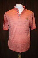 Bobby Jones Masters Augusta National Logo Cotton Golf Polo Shirt Large L