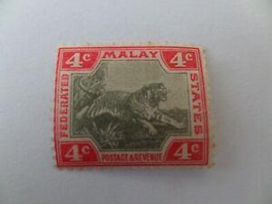 MALAYSIA Fed States 1900 Crown CA SG17a grey & carmine MINT CV£12
