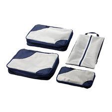 IKEA UPPTACKA Travel Packing Bags, Packing Cubes, Set of 4, Dark Blue
