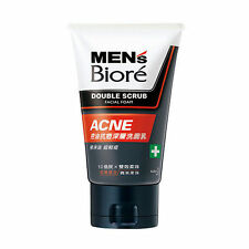 [MEN'S BIORE] ACNE Double Scrub Facial Wash Foam w/ Micro Beads 100ml NEW