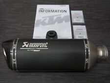 "AKRAPOVIC ""Slip-on"" endschalldämpfer PER KTM SUPERDUKE 1290 R/GT 6140597900033"