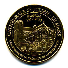 72 LE MANS Cathédrale, 100 ans Armée bleue, Couleur or, 2017, Monnaie de Paris