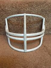 Vintage White Schutt 1970s Double Wire Nop Red Dot L Football Helmet Facemask