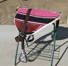 NEW fleece bottom bare back bareback riding pad soft saddle stirrup girth NAVAJO