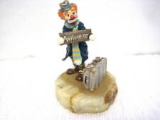 """1988 Ron Lee """"Anywhere"""" Hand Signed 24k Gold Accented Heavy Figurine-Amazing!"""