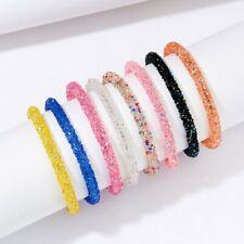Fashion Women Crystal Bling Sequins Bracelet Ladies Handmade Bangle Jewelry Gift