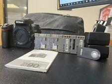 Nikon D D90 12.3MP Digital SLR Camera - Body - 4 Batteries - 2 Chargers - Remote