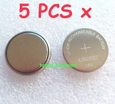 5 PCS x Rechargeable 3.6V Li-ion LIR2032 Button Battery Can replace CR2032