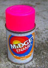 WEIRD vintage 1970s 1980s MIDGET spray paint can  ZYNOLYTE hot pink GRAFFITI