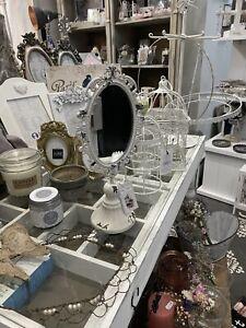 Deko Paket 10 Tlg Spiegel Teelicht Vase Landhaus Shabby French Chic Bilderrahmen