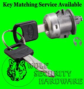Ford Lincoln OEM Single Front Door Key Lock Cylinder Tumbler Barrel 2 Keys