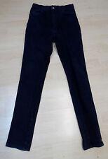 XtraX Gothik Stretch Jeans Hose hauteng in dunkelblau / schwarz  ,gay