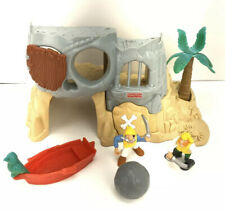FISHER PRICE 77042 GREAT ADVENTURE PIRATE ISLAND 1995 W/ Figures Lot INCOMPLETE
