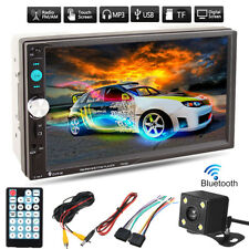 7'' 2DIN 1080P Bluetooth Autoradio Coche MP5 Estéreo Reproductor AUX TF+ Camara
