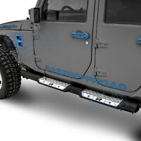 HD Falcon 4 Door Side Step Armor Slider Running Board for 07-18 JEEP JK Wrangler