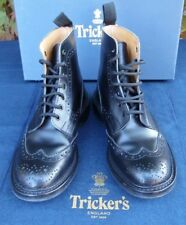 Mens - Trickers - Stow - Black Brogue Boots - UK 7