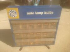 Vintage GE Auto Lamp Bulbs Light Bulb Display Cabinet Rack