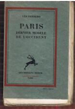 FERRERO - PARIS DERNIER MODELE DE L'OCCIDENT - LIVRE ANCIEN RARE