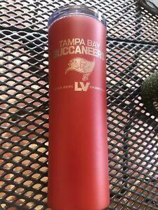 Tampa Bay Buccaneers Super Bowl LV Champions Skinny 15 oz. DRAFT Tumbler RED