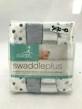 Aden Swaddle Blankets: 4 Pack | Grey& White | 112 cm x 112cm