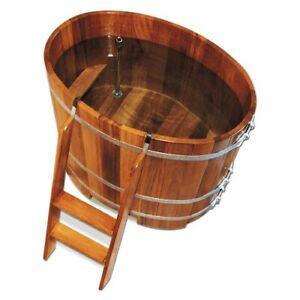 Sauna Tauchbottich Tauchbecken aus Kambalaholz Oval mit Hygieneversiegelung