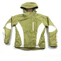 Obermeyer Lolita Women's Size 8 Green White Hooded Winter Ski Jacket Coat EUC