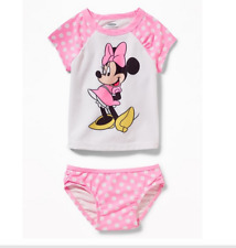 GAP OLD NAVY Disney Minnie Mouse Rashguard Swim Set NWT 3T 4T N12 NNN