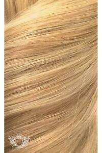 """Foxy Locks 16"""" Seamless Clip In Human Hair Extensions - Sandy Blonde 20/24/60"""