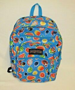 JanSport Big Student Backpack Adjustable Shoulder Straps The Fruit Is Fun NICE